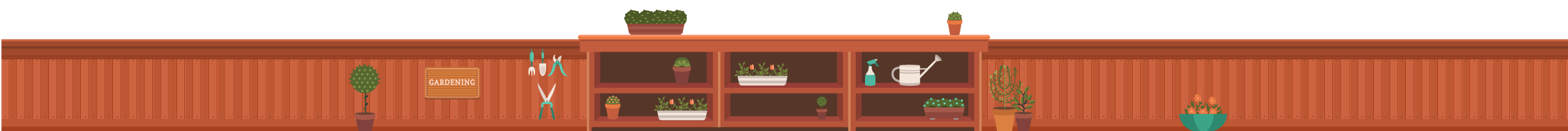 Illustration of a Garden Center counter
